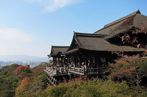 京都東山是音羽清水寺清水的舞台